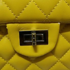 Bags - Yellow Quilted Mini Bag
